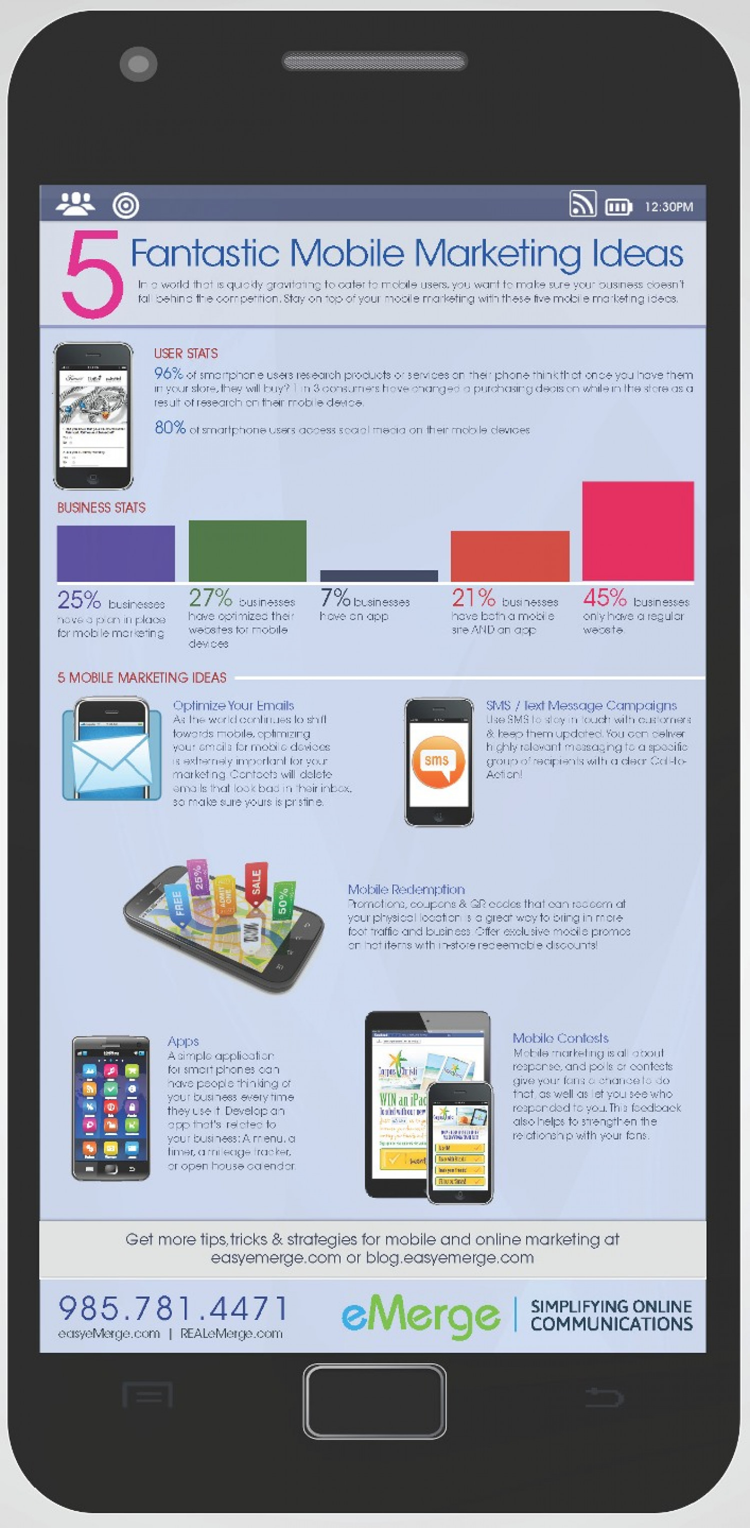 5 Fantastic Mobile Marketing Ideas Infographic
