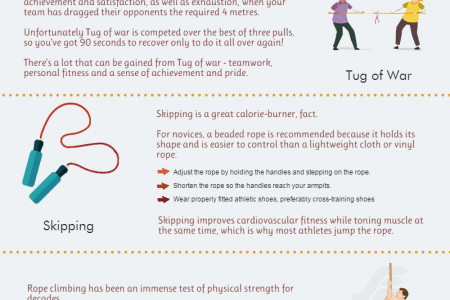 5 Fun Exercises Using Rope Infographic