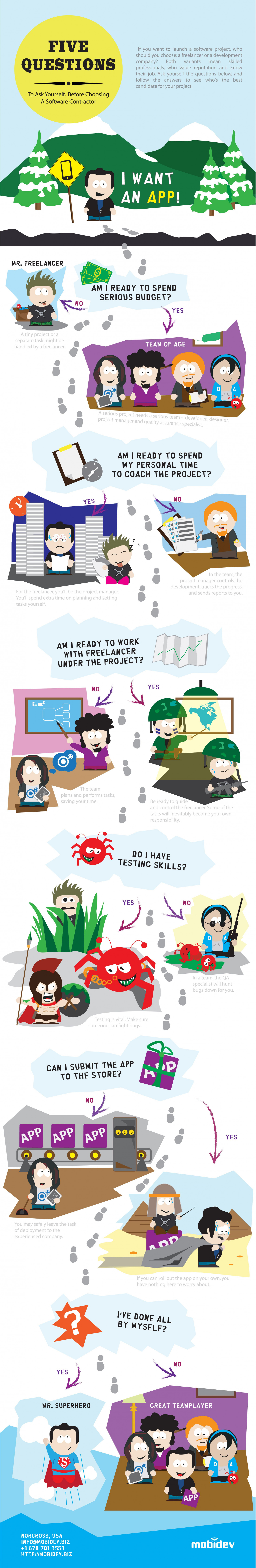 5 Questions About Choosing A Software Developer Infographic