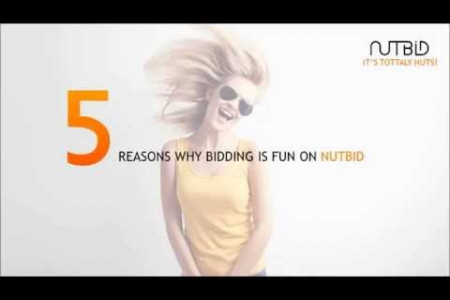 5 Reasons Why Bidding Is Fun On Nutbid Infographic