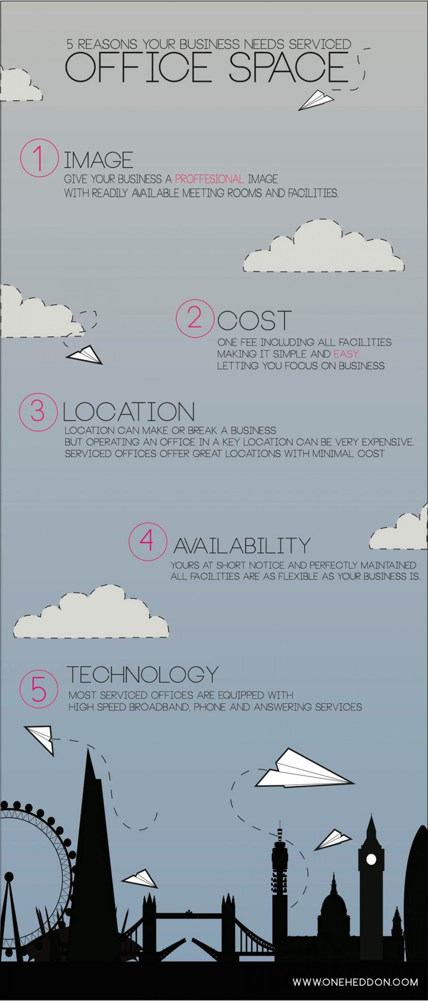 5 reasons your business needs serviced office space  Infographic