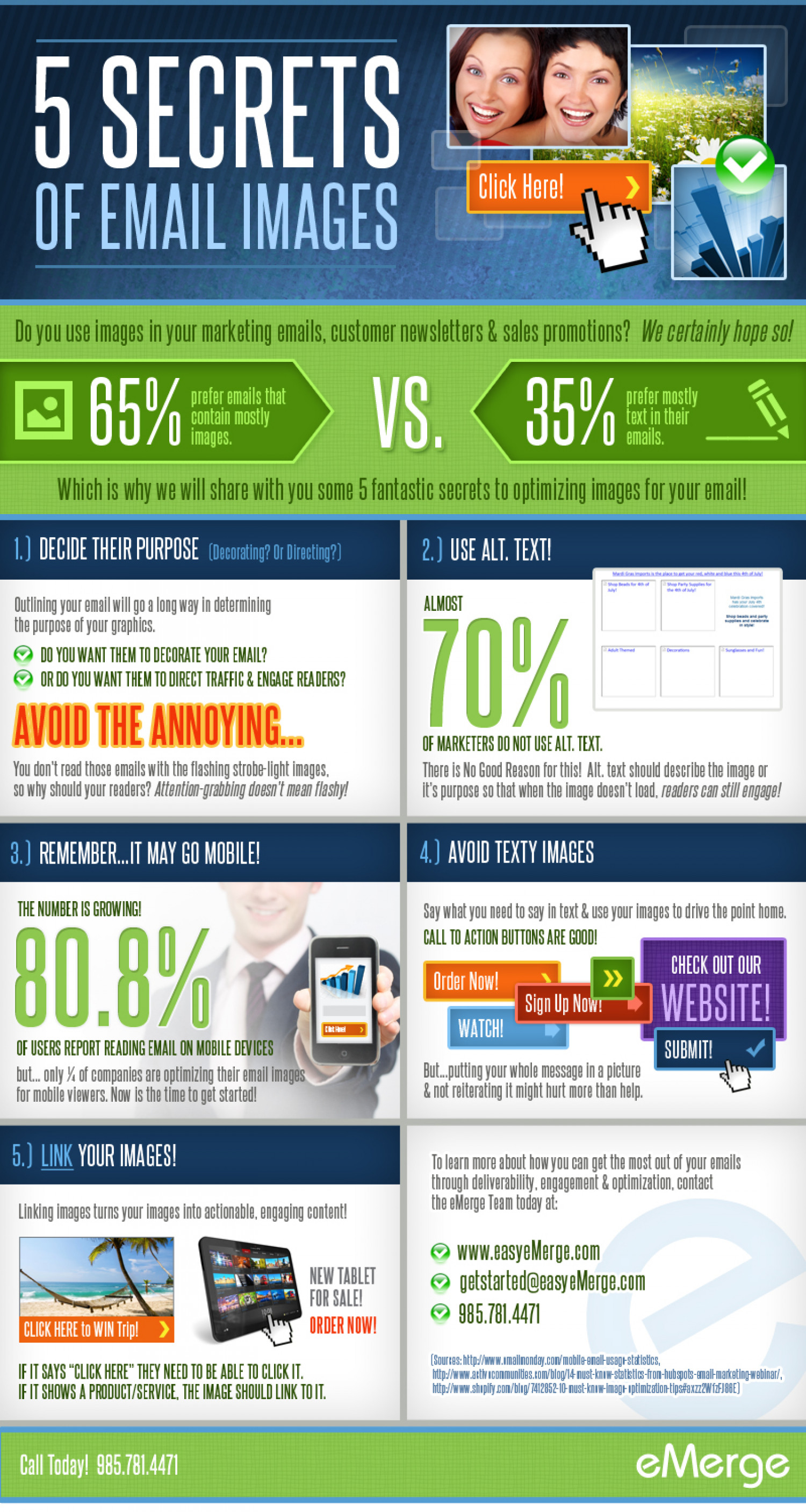 5 Secrets Of Email Images Infographic