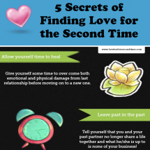 5 Secrets of Finding Love Again Infographic