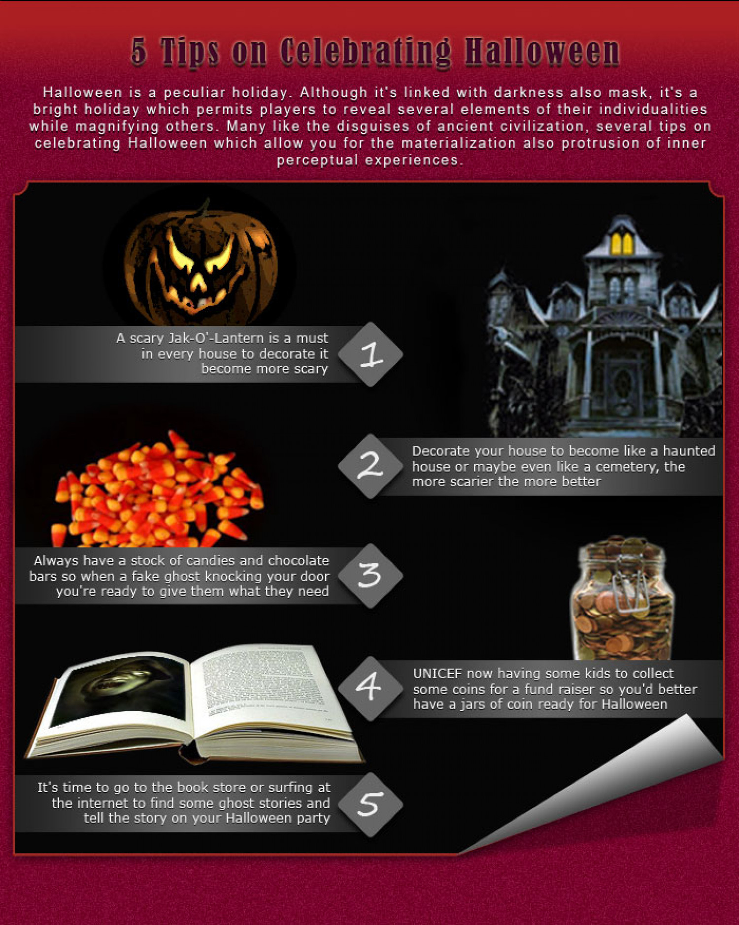 5 Tips on Celebrating Halloween Infographic