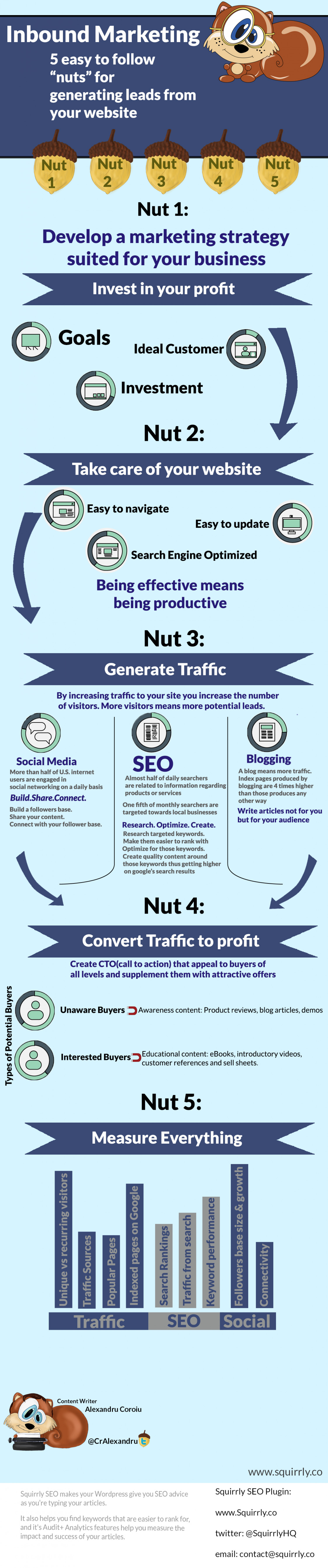 5 Tips to get a higher lead generation from your website Infographic