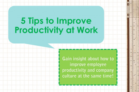 5 Tips to Improve Productivity at Work Infographic