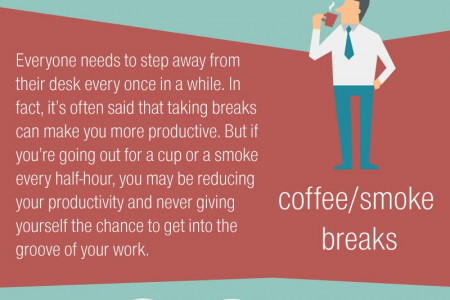 5 Top Office Time Wasters Infographic