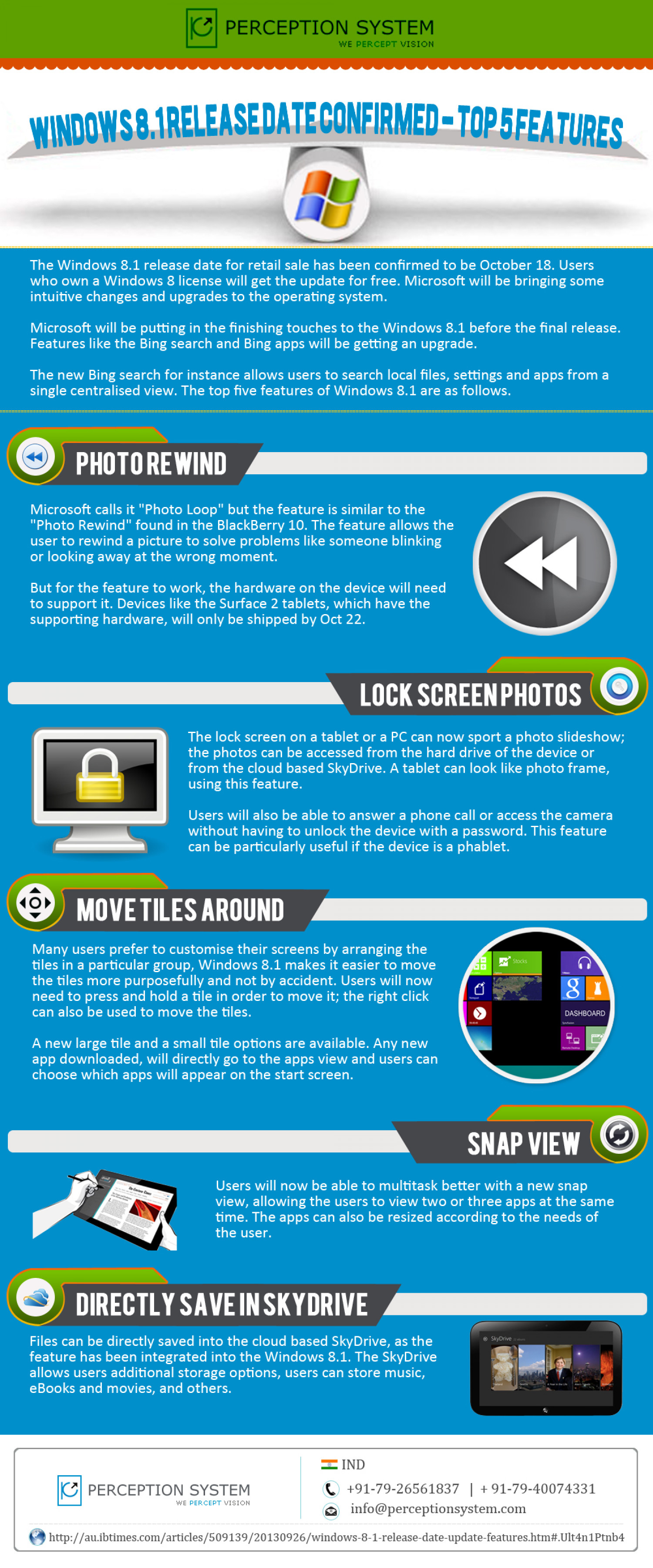 5 Upcoming Features of Windows Phone 8.1 Infographic