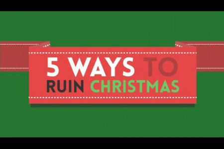5 Ways to ruin Christmas Infographic