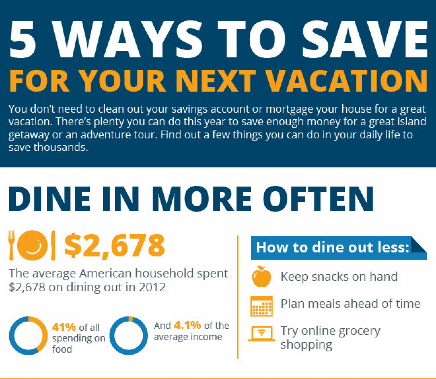 5 Ways To Save For Your Next Vacation Infographic