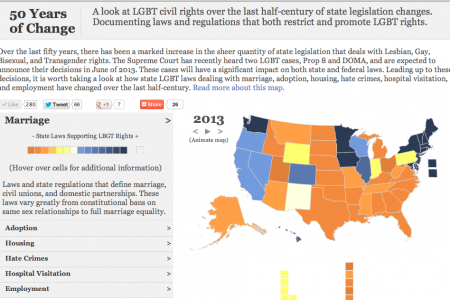 50 Years of Change: LGBT Civil Rights Infographic