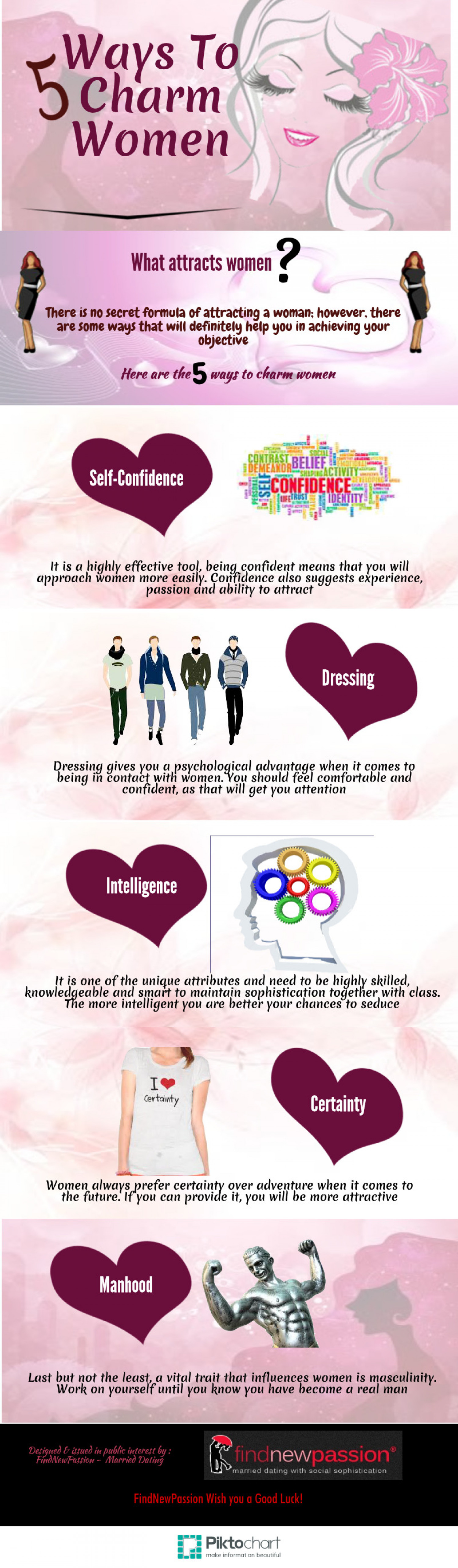 5 Ways To Charm Women Infographic