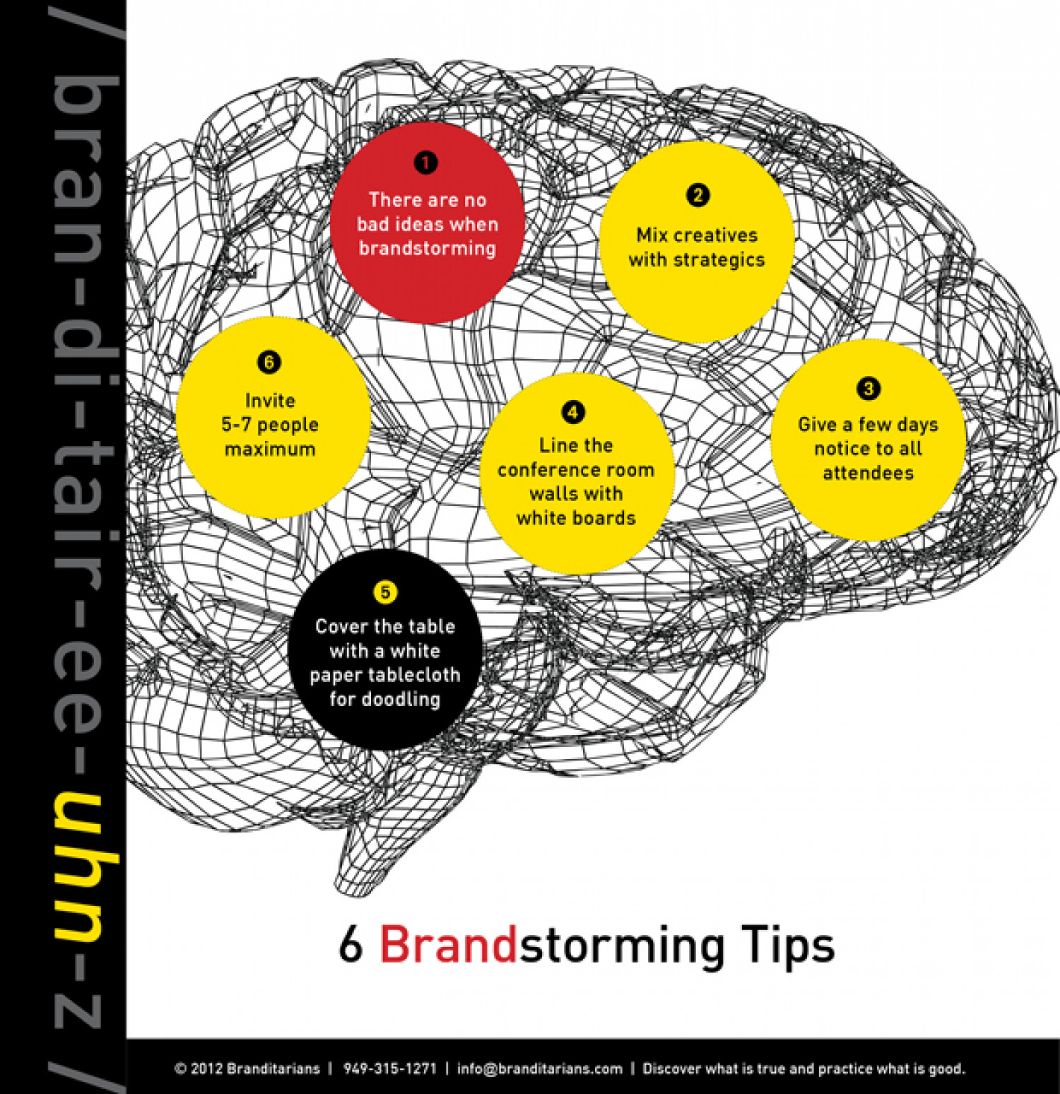 6 Brainstorming Tips Infographic