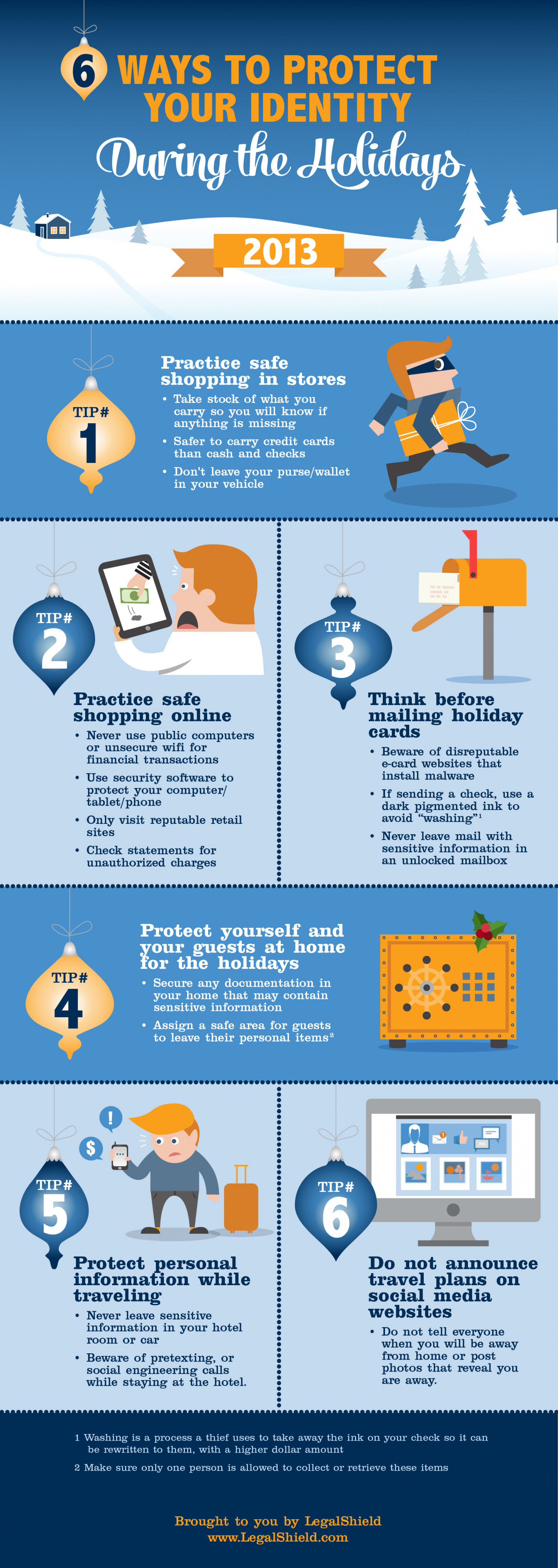 6 Consumer Tips to Protect Your Identity During the Holidays Infographic
