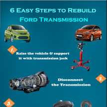 6 Easy Steps to Rebuild Ford Transmission Infographic
