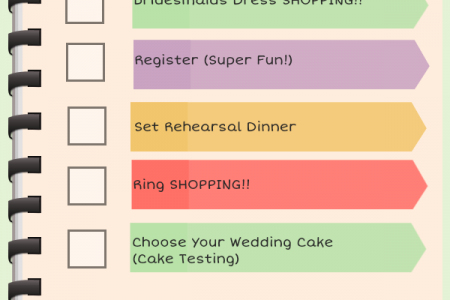 6 Months Before Wedding Planning Checklist Infographic