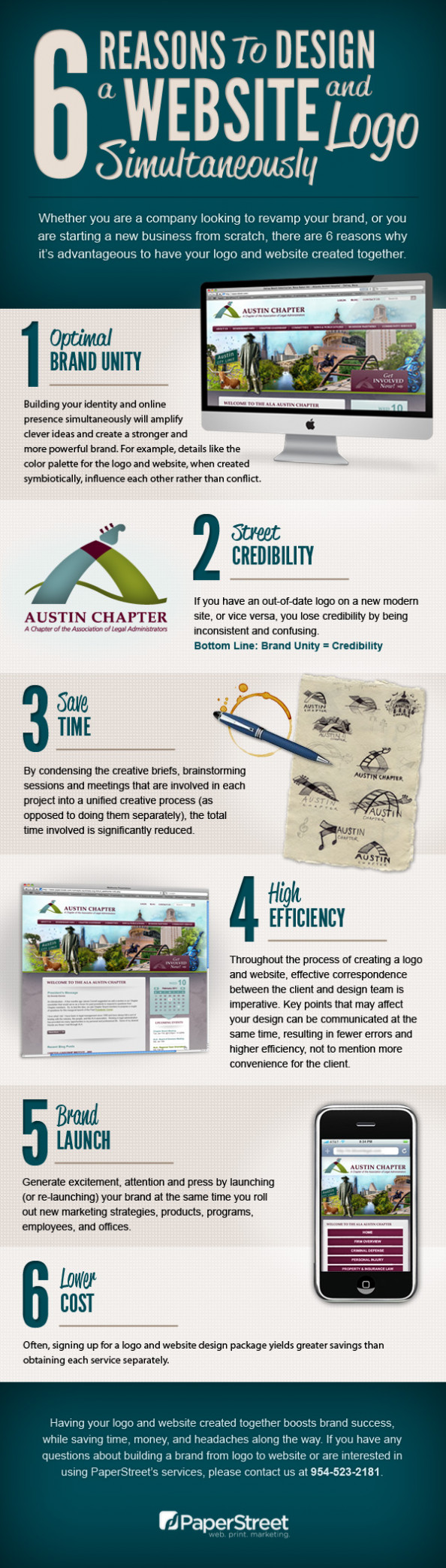 6 Reasons to Design a Website and Logo Simultaneously Infographic