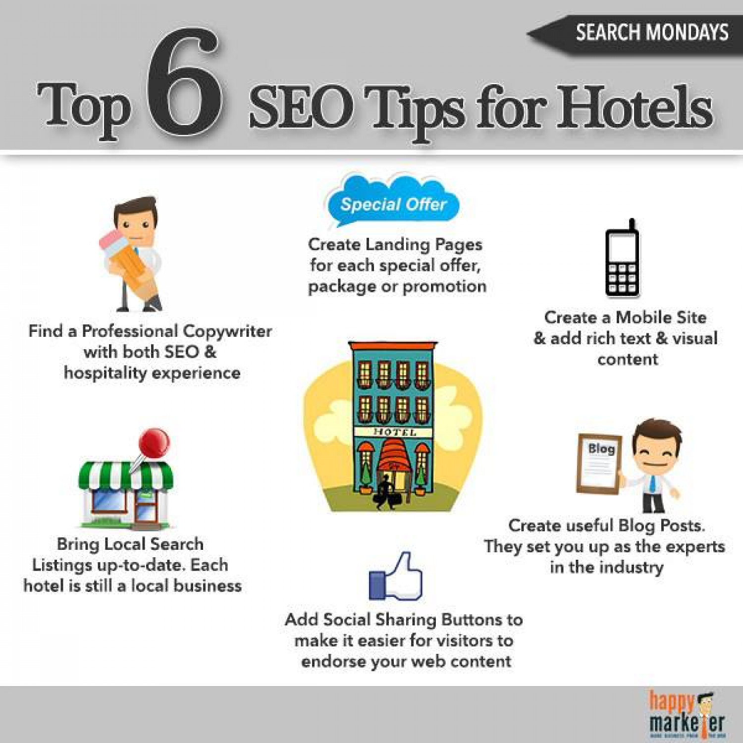 6 SEO Tips for Hotels Infographic