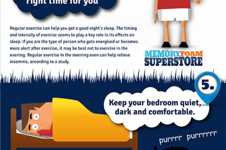6 Top Tips For A Better Nights Sleep Infographic
