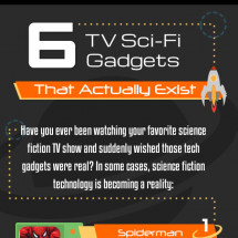 6 TV Sci-Fi Gadgets that Really Exist Infographic
