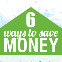 6 ways to save money at home Infographic