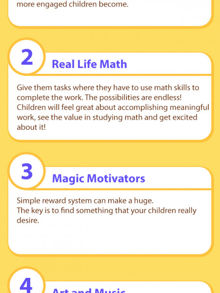 6 Ways to Make Math Fun Infographic