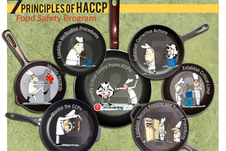 7 Principles of HACCP  Infographic
