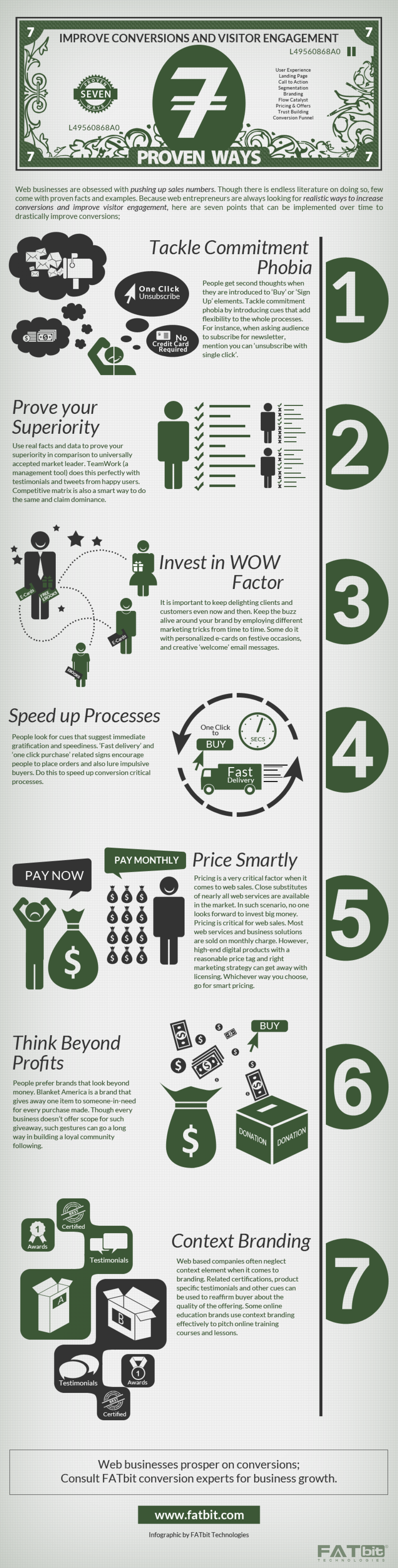 7 Proven Ways to Improve Conversion and Visitor Engagement  Infographic