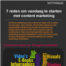 7 redenen om vandaag te starten met content marketing Infographic