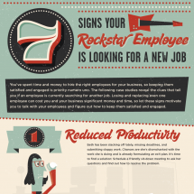 7 Signs Your Rockstar Employee Is Looking for a New Job Infographic