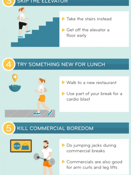 7 Simple Ways to Stay Active  Infographic