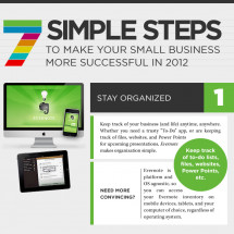 7 Steps to Make Your Small Business More Effective in 2012 Infographic