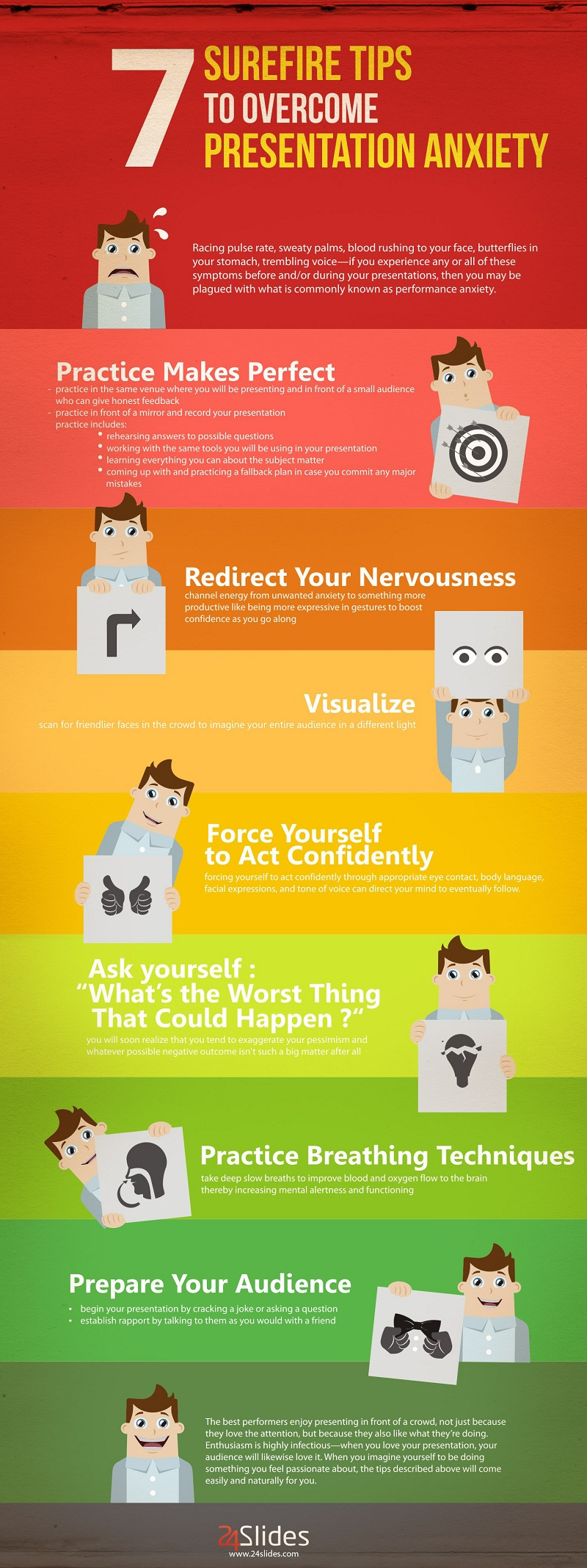 7 Surefire Tips To Overcome Presentation Anxiety #infographic