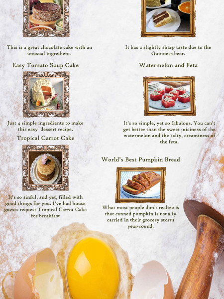 8 Bizarre Desserts and Breads Infographic