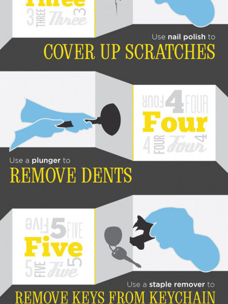 8 Car Hacks Infographic