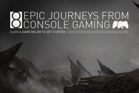 8 Epic Journeys from Console Gaming Infographic