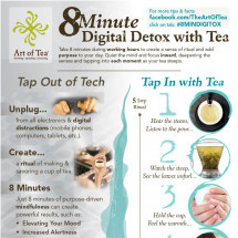 8 Minute Digital Detox with tea Infographic
