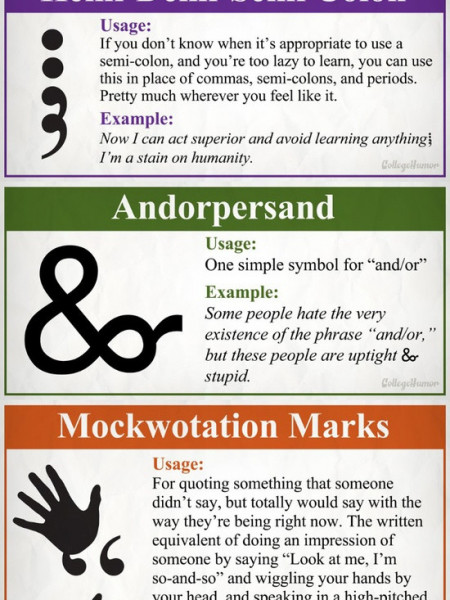 8 Totally Necessary New Punctuation Marks Infographic