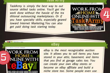 8 Ways To Earn Money From Home Infographic