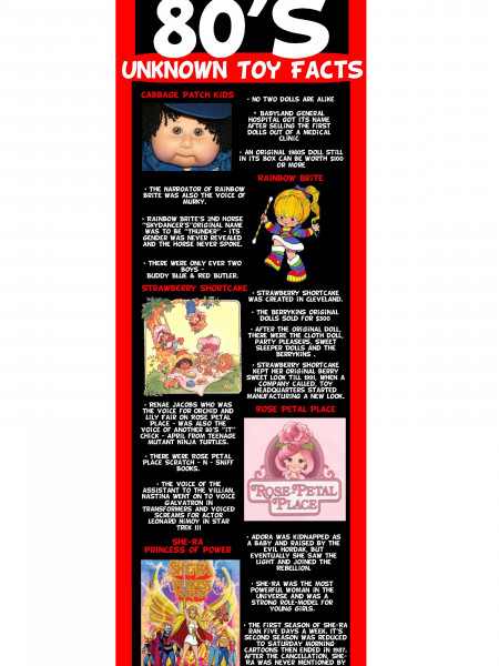 80's Unknown Toy Facts  Infographic