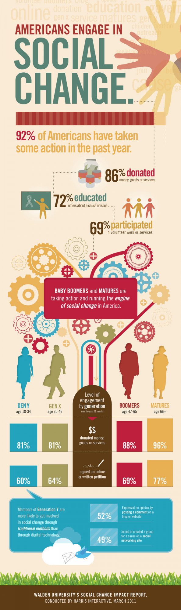 92% of Americans Take Action for Social Good Infographic