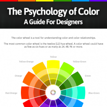 A Color Guide For Designers Infographic