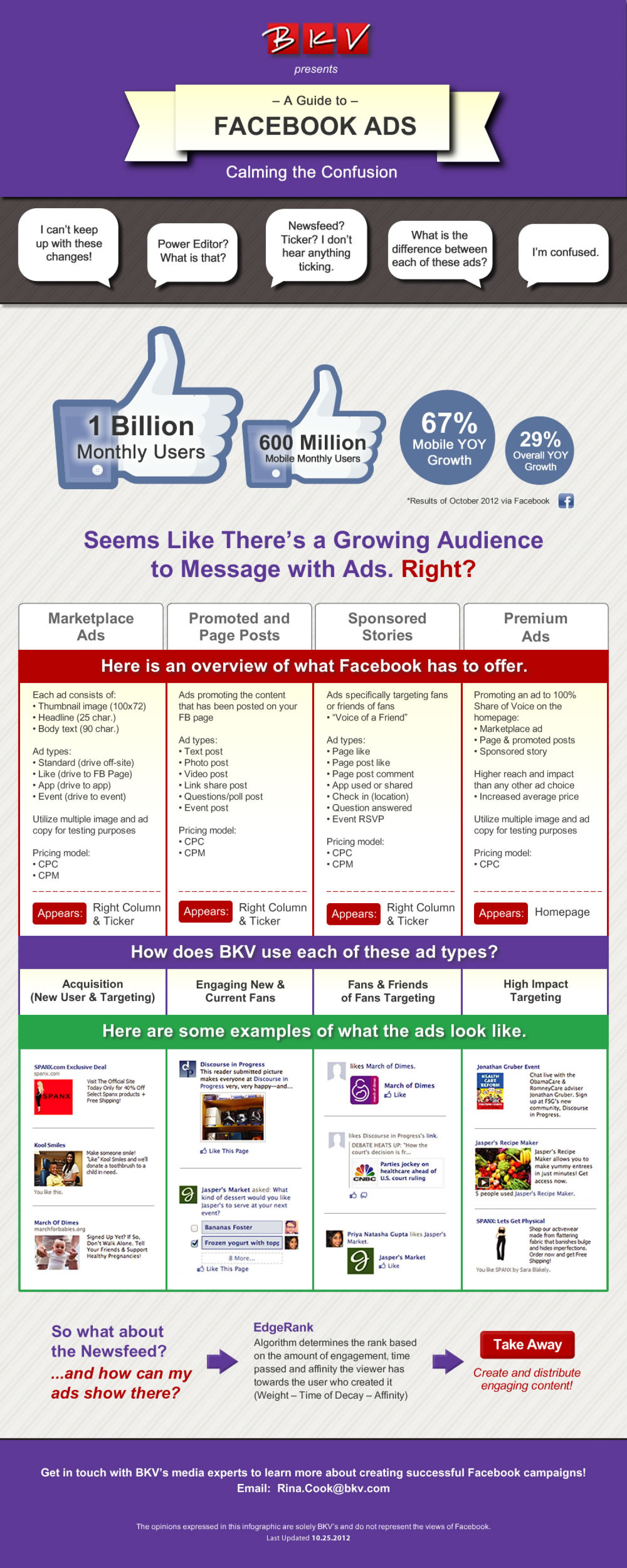 A Guide to Facebook Ads: Calming the Confusion Infographic