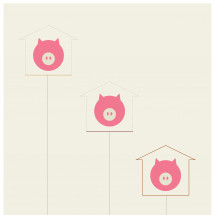 A Minimalist's 3 Little Pigs Infographic