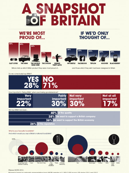 A Snapshot of Britain Infographic