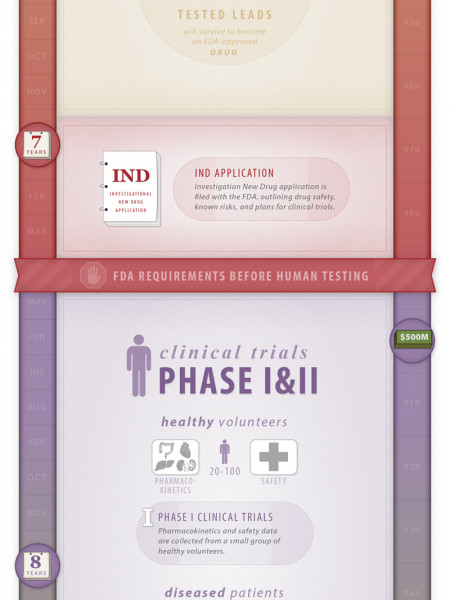 A Tough Pill to Swallow - Illustrated Guide to Drug Discovery Infographic
