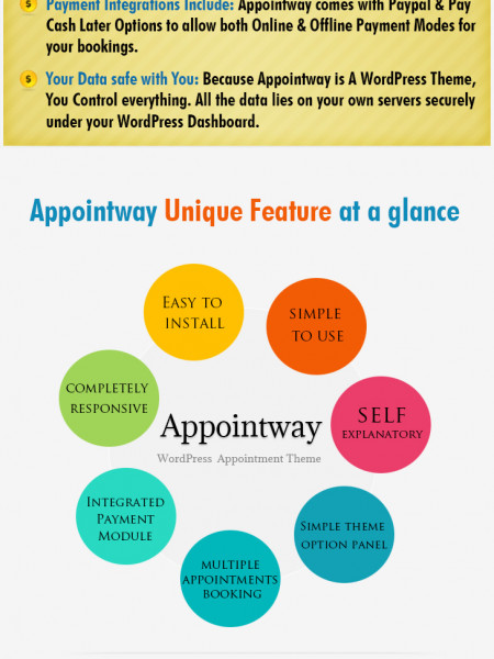 AppointWay WordPress Theme Sales Page InkThemes Infographic