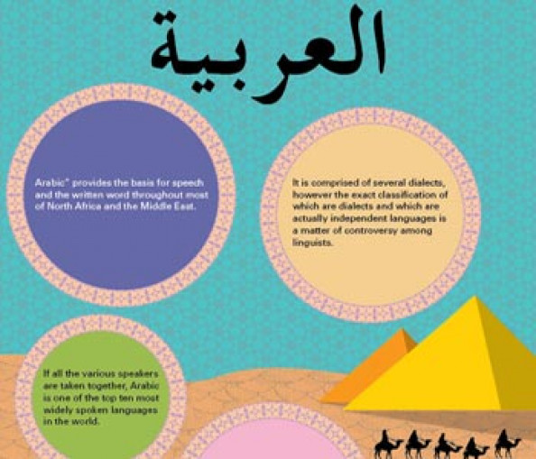 Arabic Language Infographic Infographic