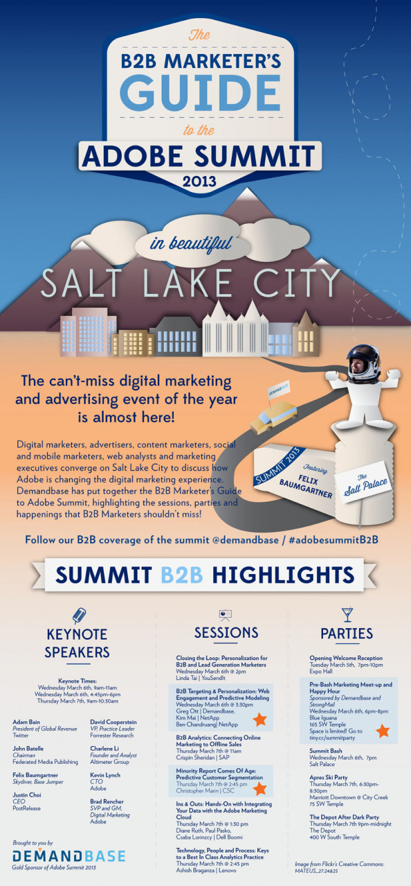 B2B Marketer&#039;s Guide to Adobe Summit Infographic