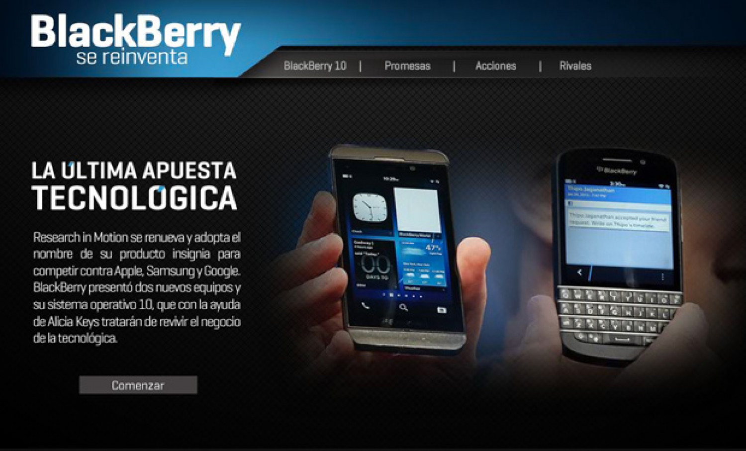 BlackBerry se reinventa Infographic